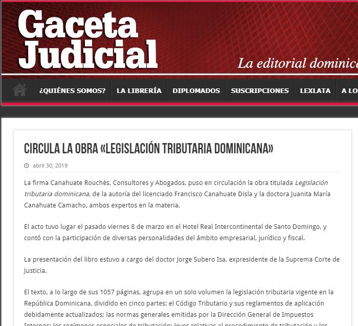 Circula la obra «Legislación tributaria dominicana»